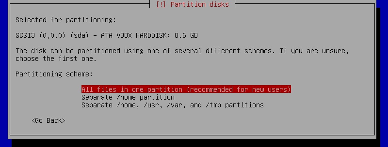 Select all files in one partition