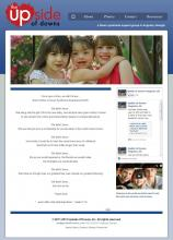 Home page for Upside of Downs, Inc, a Down syndrome support group in Augusta, Georgia