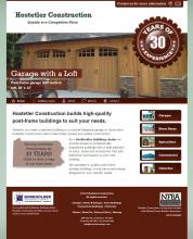 Home page of Hostetler Construction, Cochranton, PA