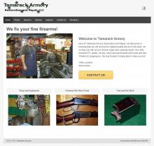 Home page for Tamarack Armory, professional gunsmith in Meadville, PA